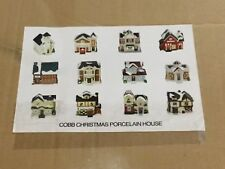 Cobb Christmas Porcelain Village Mini Town Houses Complete Set Of 12