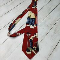 Vintage Norman Rockwell Before The Shot Doctor Neck Tie