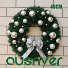 Christmas Xmas Silver Dia40cm Wreath Door Window Hanging Decoration Morvah S435