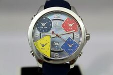 JACOB & CO BRAND NEW 100% AUTHENTIC JC8 47MM 5 TIME ZONE STAINLESS STEEL MEN'S W