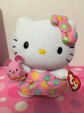 Ty Hello Kitty Easter Pink Bunny Plush Toy Small