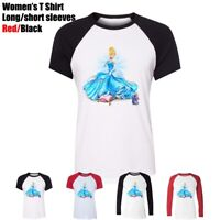 Disney Princess Cinderella Wearing Glass Slipper Women's T-Shirt Graphic Tee Top