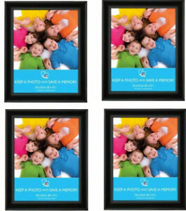 """[Set of 4] 8"""" x 10"""" (20x25cm) Black Picture Photo Frames Wall Mountable"""