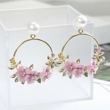 Ear Personality Flower Stud Fashion Jewelry Pearl Earrings Women Temperament