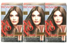 (3) Revlon Salon Quality Color 6 Light Brown Long Lasting Permanent Hair Dye
