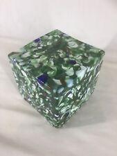 Murano Style Art Glass Cube (ref Y570)