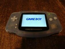 Nintendo Game Boy Advance Modded IPS Display Bundle Glacier Handheld System
