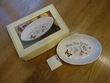 """New listing Lenox Butterfly Meadow """"Bless This House"""" Serving Tray/Dish"""