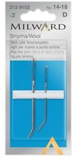 Milward Smyrna/Wool Needles No.14-18 bent end tip steel yarn sewing up needles