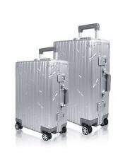 Gundel Reisekoffer Set Aluminium Bundle Alu Silber Check-In & Cabin Trolley