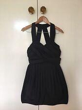 Wayne Cooper Black Pleated Bubble Dress (Size 2)