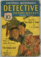 Detective Fiction Weekly May 16, 1936 Cornell Woolrich oriental Warlord Cvr