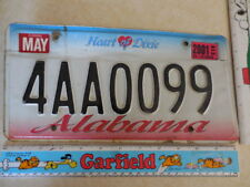 """2001~MAY """"EXPIRED""""~Alabama license plate Heart of Dixie #4AAOO99 ships FREE"""