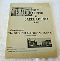 VINTAGE 1964 PLAT BOOK OF DARKE COUNTY OHIO - Greenville
