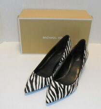 Michael Kors Flex Zebra Kitten Heel PUMPS Calf Hair Leather 8m