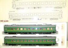 2er Set Wagon de voie large CCCP RZD Voiture-lit u Voiture-buffet H0 1:87 0221 #