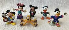 Lot of 6 Applause PVC Toy Figures Disney Mickey Minnie Donald Pluto McScrooge