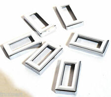 switch label bezel set (6) plain chrome plastic for Kenworth1982-2005