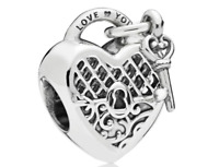 Genuine Pandora Sterling Silver S925 ALE LOVE YOU LOCK Charm 797655 + Free pouch