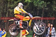 RAHIER Gaston : SUZUKI 125 Cross Carte Postale Moto Motorcycle Postcard