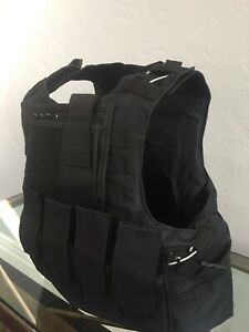 BULLETPROOF 3a vest body armor Tactical Plate Carrier Made With Kevlar Inserts