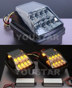 EXPRESS x2 Smoked Black Hyper LED Turn Signal Lamps Mercedes W463 W461 G Class
