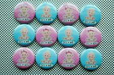 "Its a boy girl baby announcement gender reveal party Buttons Badges 1"" pinback"