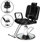 Classic Reclining Barber Chair, 360 Degree Swivel Hydraulic Height Adjustable