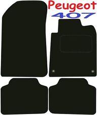 Calidad de lujo a medida Alfombrillas De Coche Peugeot 407 2003-2012 ** negro **