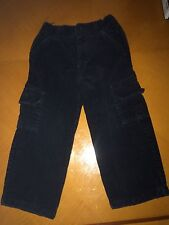 Baby Boys Toddlers Old Navy Black Corduroy Cargo Pants Size 2T 24 Months
