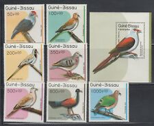 Guinea Bissau 1989 Birds Sc 811-818  Mint Never Hinged