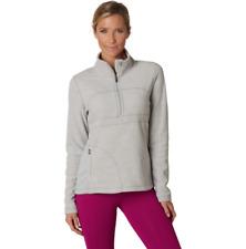 prAna Women's Drea Half Zip Silver Fleeve Pullover Sweater Size Medium NWT Gym