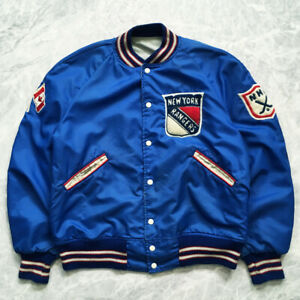 VTG COSBY NEW YORK RANGERS NHL AUTHENTIC JACKET SIZE L XL