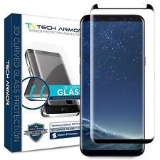 Tech Armor 3D-Edge Glass Screen Protector (Black) for Samsung Galaxy S8 Plus [1]
