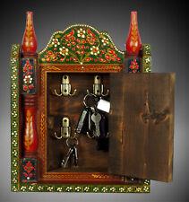 Orient Holz Schlüsselkasten Schlüsselschrank handpainted Key Hanger Keybox 19/K