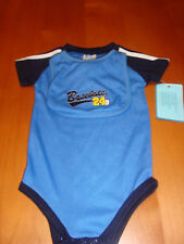 BABY BOYS 2PC BASEBALL ONE PIECE UNDERWEAR & BIB  SET   SZ 6-9 MOS