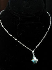 Silver Chain New Genuine Crystal Pendant On