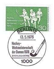 Berlín 1976: hockey-WM de la señora nº 521 con etiquetas primero-sello especial! 1a! 1510