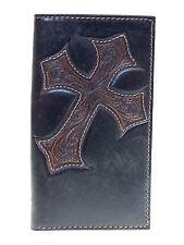 Nocona Mens Western Rodeo Wallet Diagonal Cowboy Cross 11 Credit Card