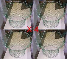 Heavy Duty 2 Ring Crab/Cray Net - Wire Mesh Bottom X 4