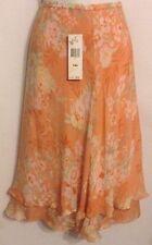 Jones New York Signature Size 14W Silk Floral Double Ruffle A-Line Skirt NWT $99