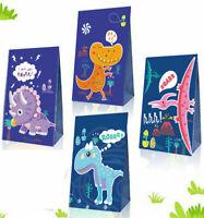 Dinosaur Goodie Candy Treat Bags Dino Kids Birthday T-Rex Roar Party Favors