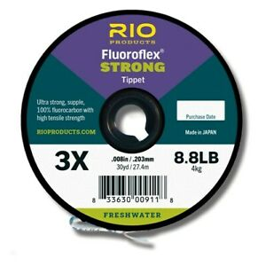 ONE 30YD SPOOL OF RIO FLUOROFLEX STRONG TIPPET 4X 7.3 LB 100% FLUOROCARBON