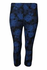 New Ladies Printed Skinny Fitted Stretchy Leggings Womens 3/4 Len Plus Size 8-22