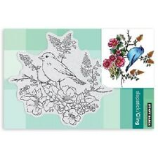 PENNY BLACK RUBBER STAMPS SLAPSTICK CLING FLOWER PERCH BIRD NEW cling STAMP