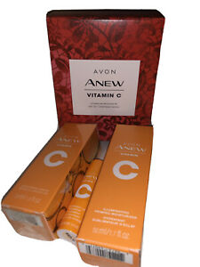 Avon Anew Vitamin C Gift Set Primer Moisturizer Brightening Serum Lip Treatment