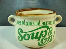 Soup's on! Ceramic Soup Bowl Crock Mug Green Japan