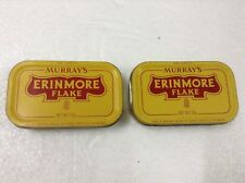 MURRAY'S ERINMORE FLAKE Pineapple Logo Pipe Tobacco Tin Container x 2pcs  #4