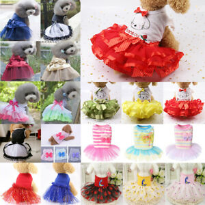 Summer Dog Bow Dress Pet Clothes for Small Dog Wedding Dress Skirt Pet Clothes