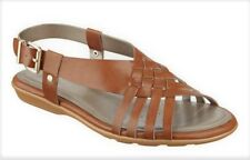 Easy Spirit Resto strappy sandals natural tan brown woven sz 6.5 Med New